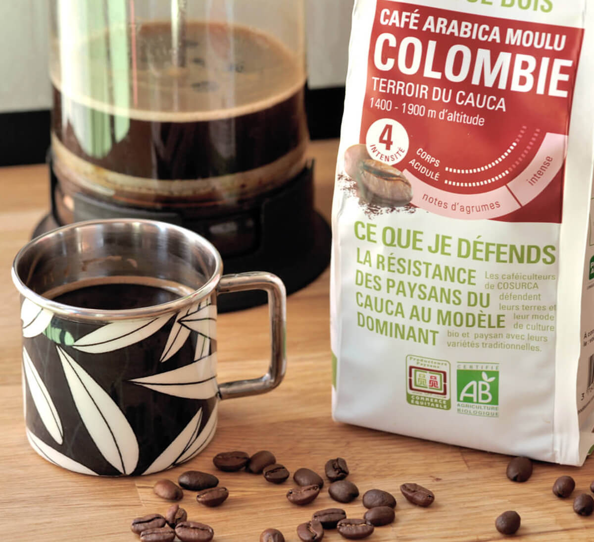 Ethiquable - Arabica bio moulu Colombie issu du Commerce Equitable