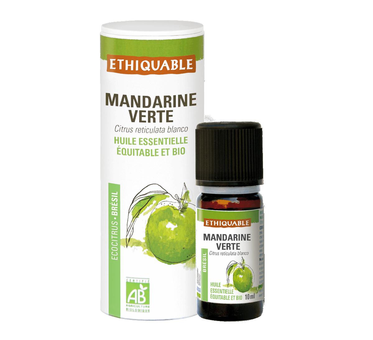 Ethiquable - Huile essentielle de mandarine verte bio issue du commerce équitable
