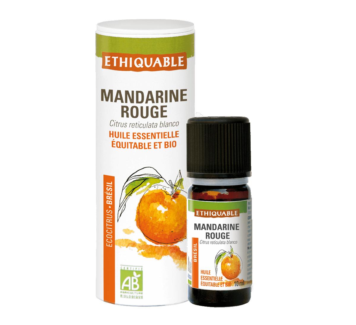 Ethiquable - Huile essentielle de mandarine rouge bio issue du commerce équitable