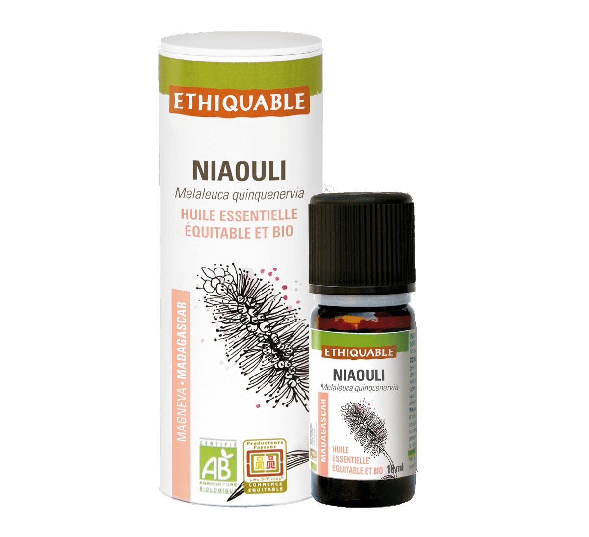 Ethiquable - Huile essentielle de niaouli bio issue du commerce équitable