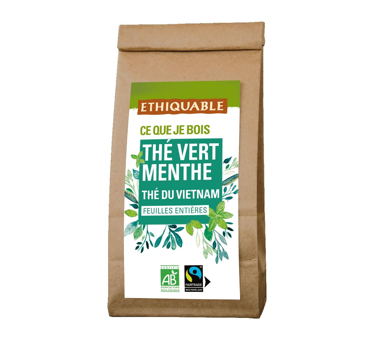 Thé vert Menthe bio en vrac du Vietnam issu du Commerce Equitable I Ethiquable