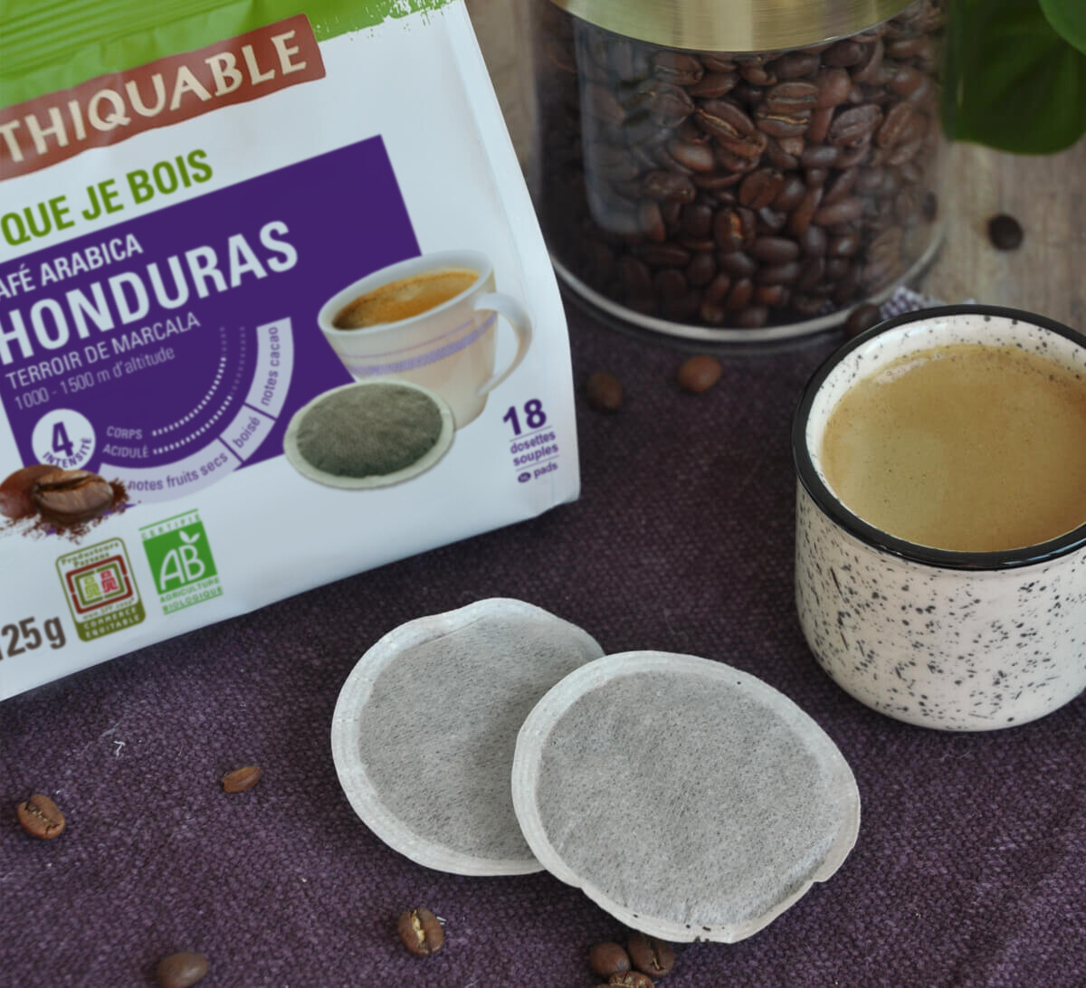 Ethiquable I Arabica bio en dosette souple Honduras issu du Commerce Equitable