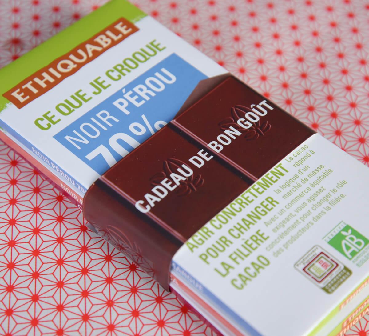 Ethiquable - Bandeau cadeau Cadeau de bon goût pour tablettes de chocolat