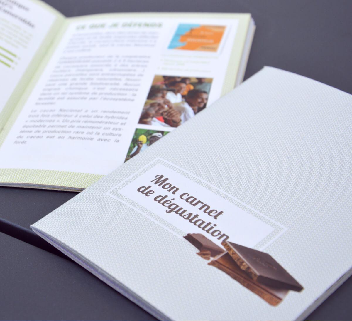 Ethiquable - Carnet de dégustation chocolat équitable et bio