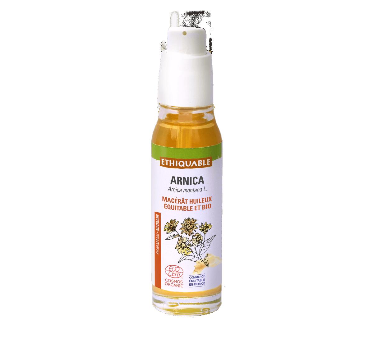 Ethiquable - Macérât huileux d'Arnica bio issu du Commerce équitable France